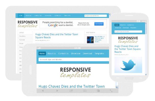 Responsive Template - Blogger