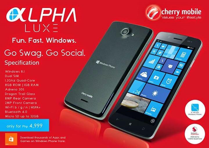 Cherry Mobile Alpha Luxe : Go Swag, Go Social, Go Windows