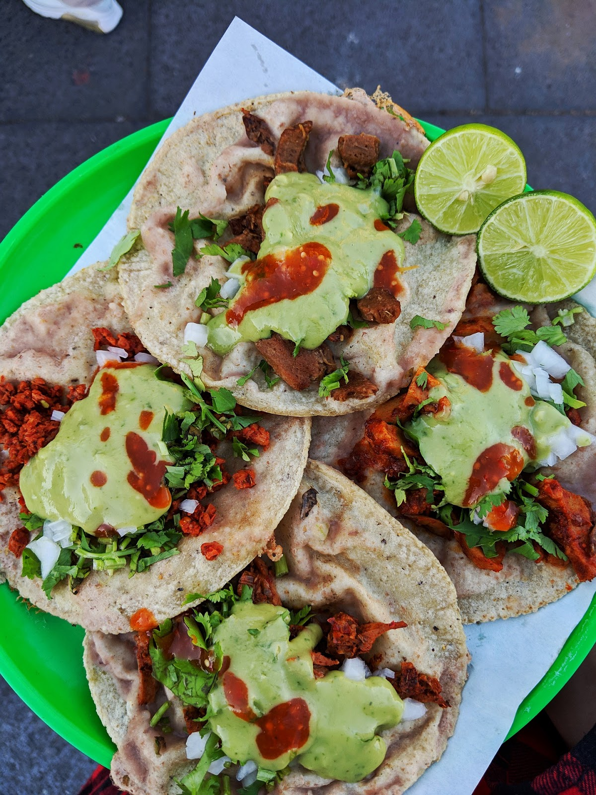 Tacos with Poblano Cream Sauce