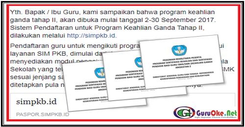PROGRAM SERTIFIKASI KETRAMPILAN GANDA TAHAP II UNTUK GURU SMA SMK TAHUN 2017