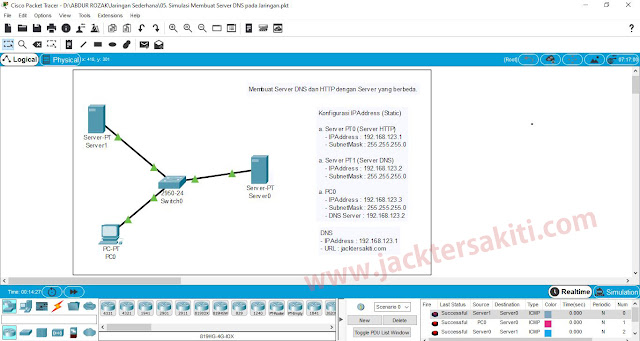 Cara Setting DNS Server Dengan Cisco Packet Tracer