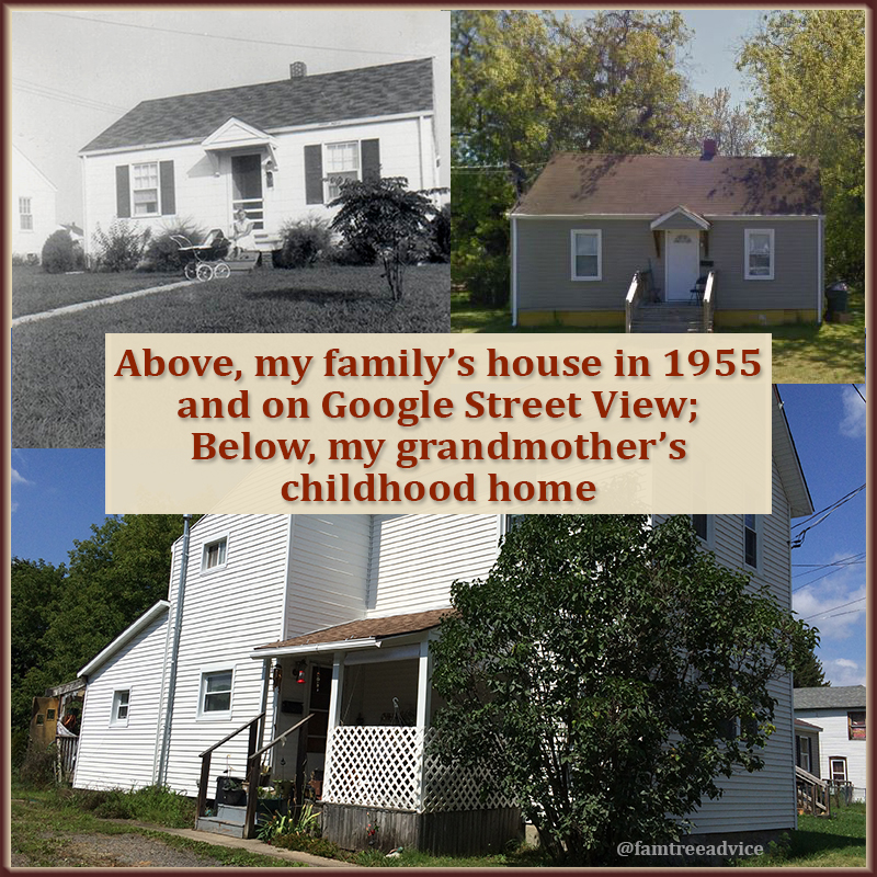 It adds another layer to your family tree to show the family homes then and now.