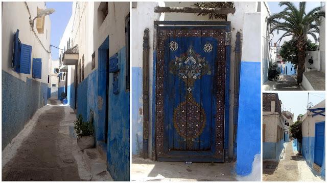 Calles azules en Rabat