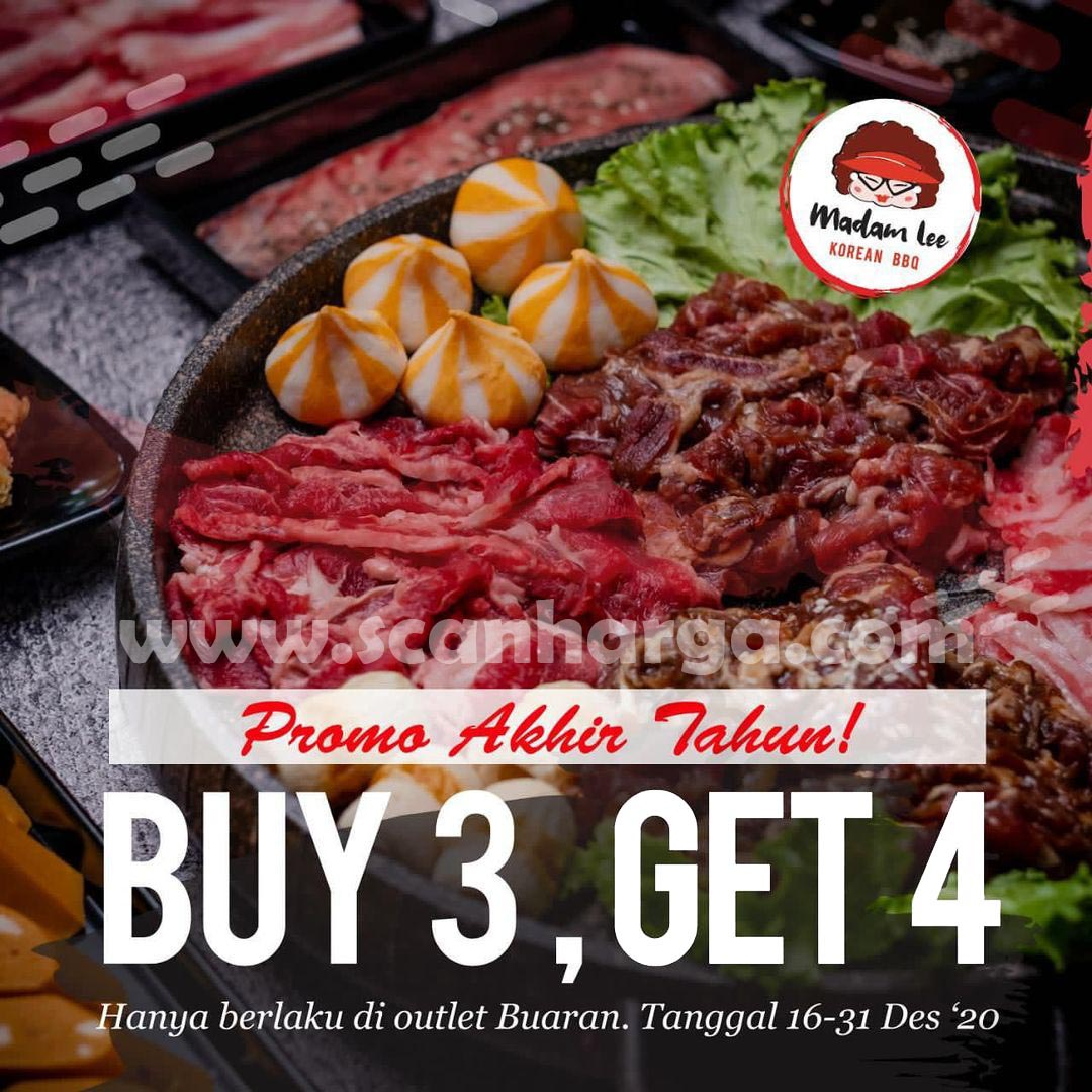 Madam Lee Buaran Promo – Buy 3 Get 4 All You Can Eat Korean BBQ