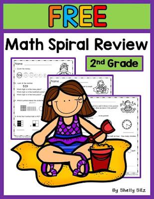 second grade math spiral review