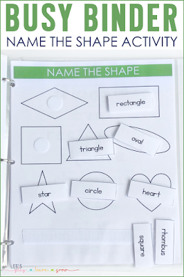 Name the Shape Busy Binder Activity