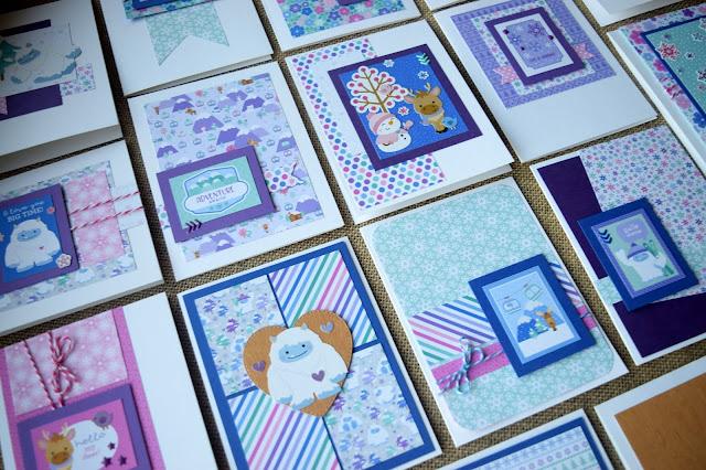 Cards using Doodlebug Winter Wonderland by Jess Crafts