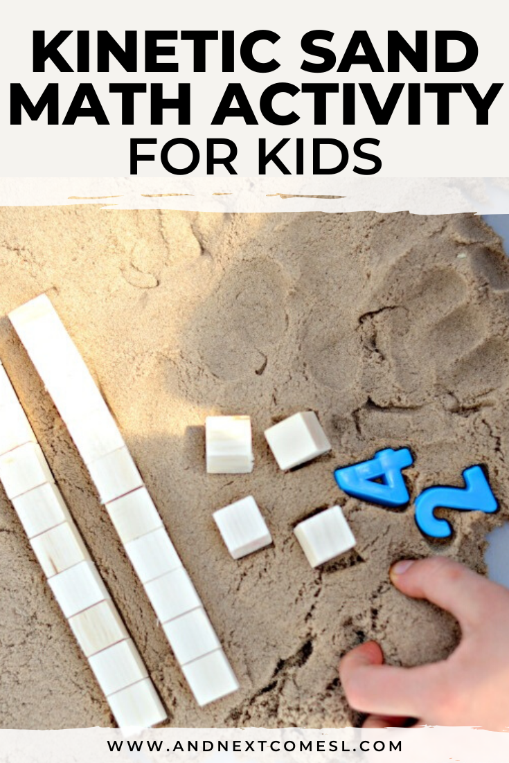 If you're looking for sensory math activities for kids, then give this kinetic sand math activity a try