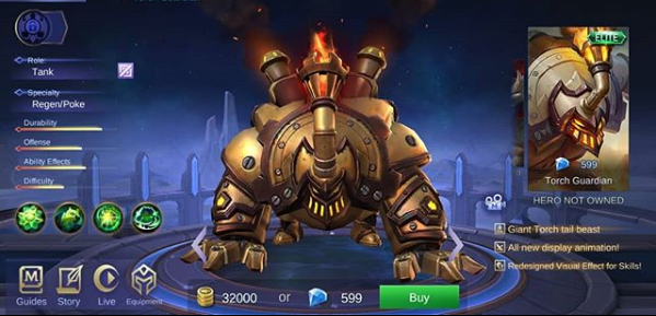 Belerick Elite Skin Torch Guardian