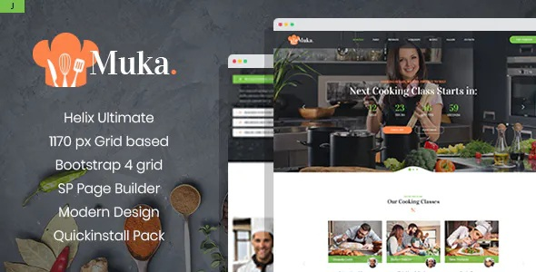 Best Bakery and Cooking Classes Joomla Template