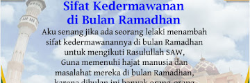 Sifat Kedermawanan di Bulan Ramadhan