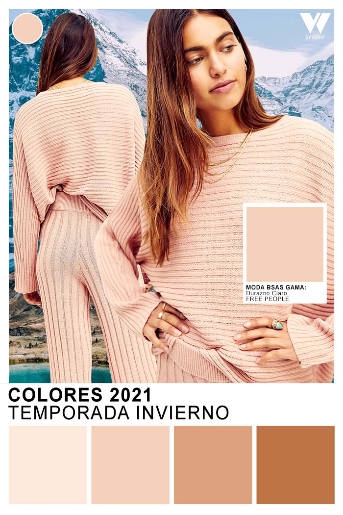 look comfy 2021 colores de moda beige durazno claro moda invierno 2021