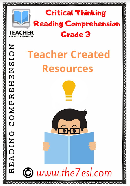 Critical Thinking Reading Comprehension Grade 3