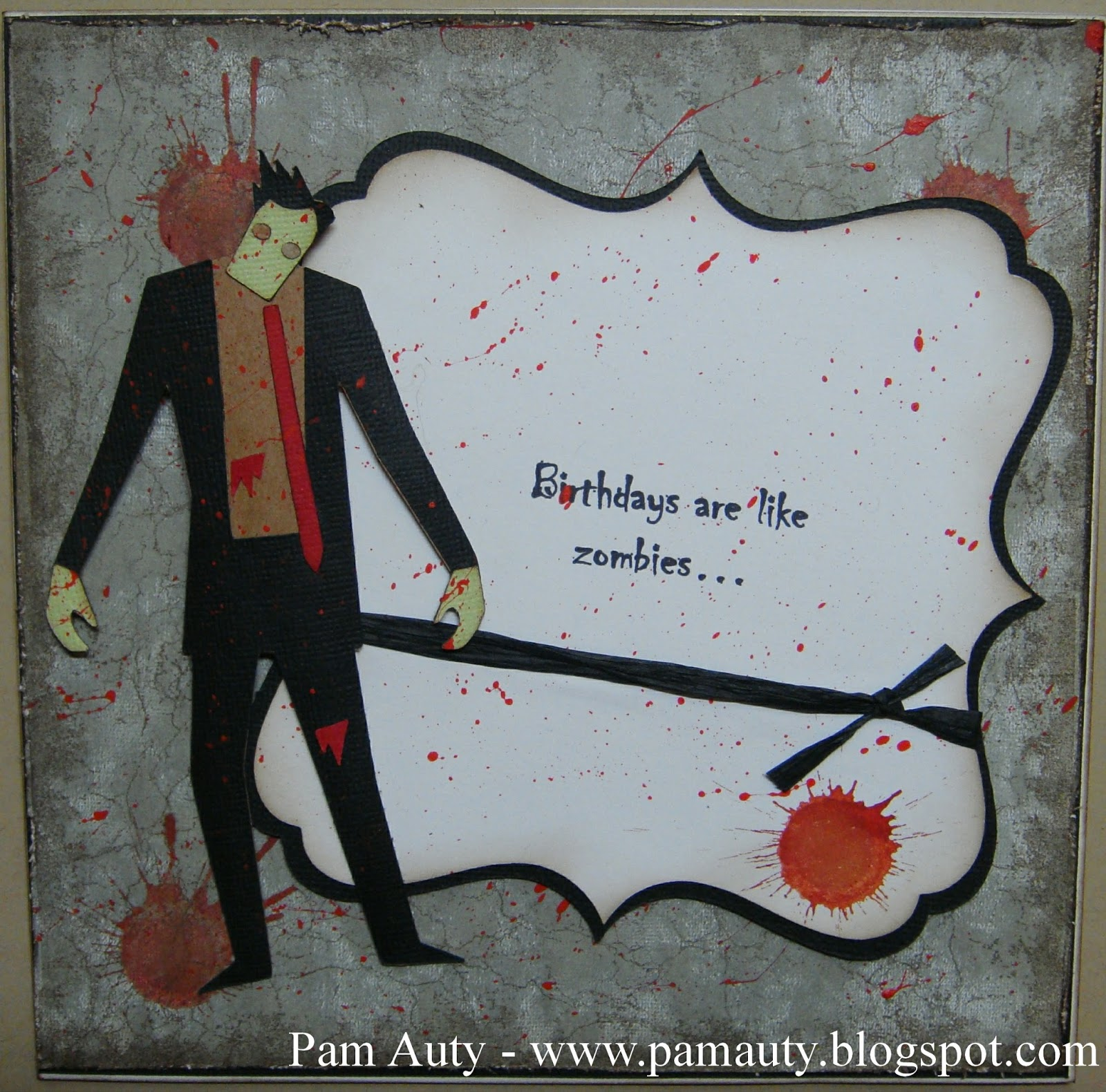 Pam auty walking dead inspired zombie birthday cards so i decided to make my husband a walking dead inspired card for his birthday m4hsunfo