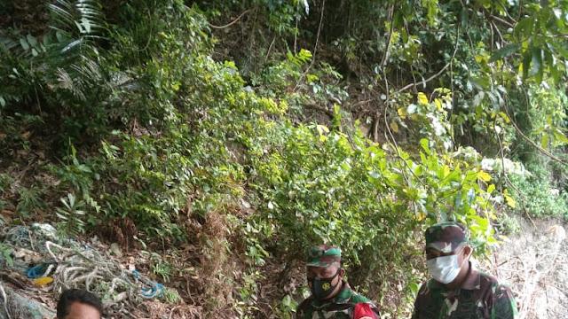 Petani Menemukan Benda Mirip Mortir Anggota Koramil 1310-02 / Lembeh Bitung, Amankan Barang Temuan