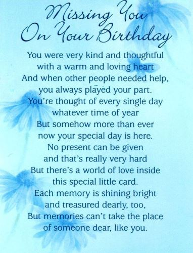 Happy Birthday In Heaven Images Quotes Poems For Friend Brother
