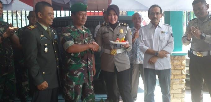 HUT TNI Ke-74 Samsat Depok Datangi Makoramil Sukmajaya