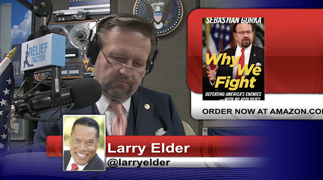 An incredible story of reconciliation. Larry Elder with Sebastian Gorka on AMERICA First