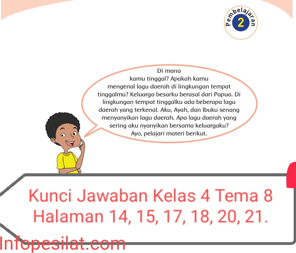 Kunci Jawaban Buku Tematik Siswa Kelas 4 Tema 8 Subtema 1 Pembelajaran 2 Halaman 14 15 17 18 20 21 Info Pesilat