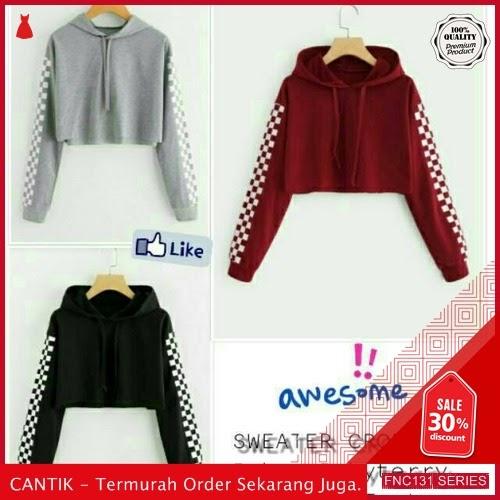 FNC131S36 Sweater Crop Hodie Catur Wanita 3w Babyterri 40Ribuan