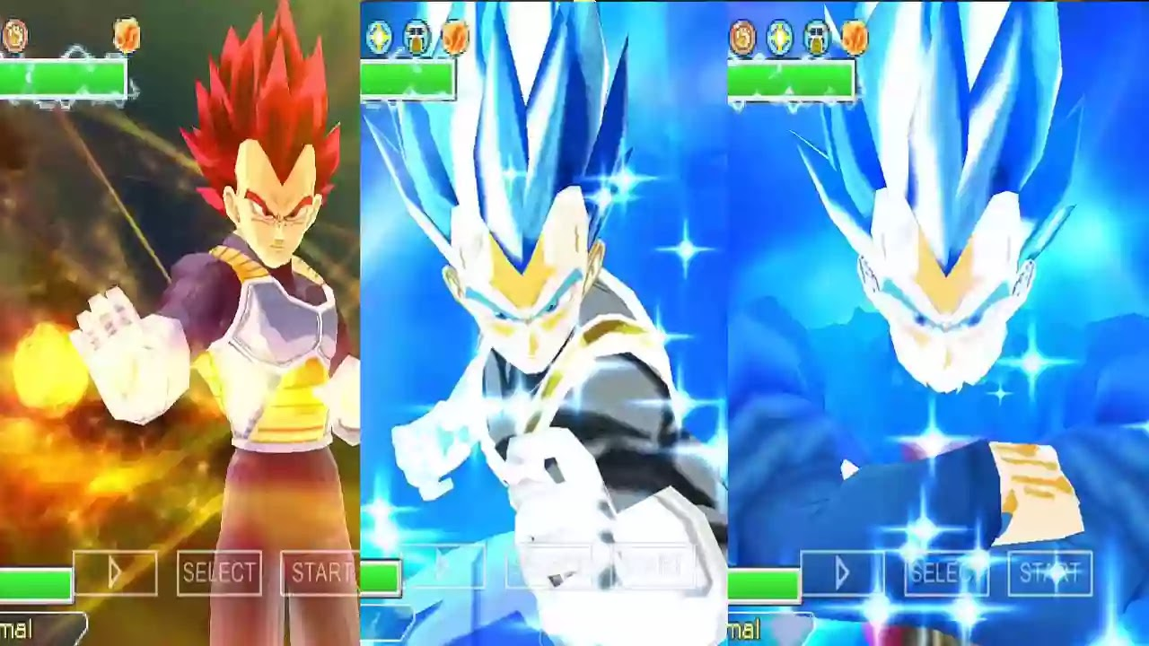 Vegeta All Forms SSB And SSJ God Red