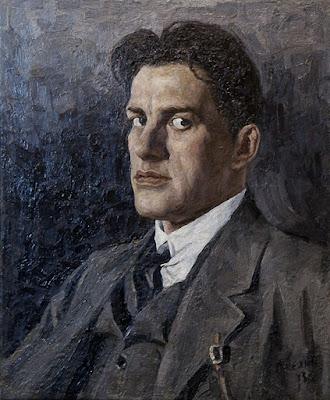 Келин Петр Иванович (1874-1946) Портрет В. Маяковского. 1943 г.