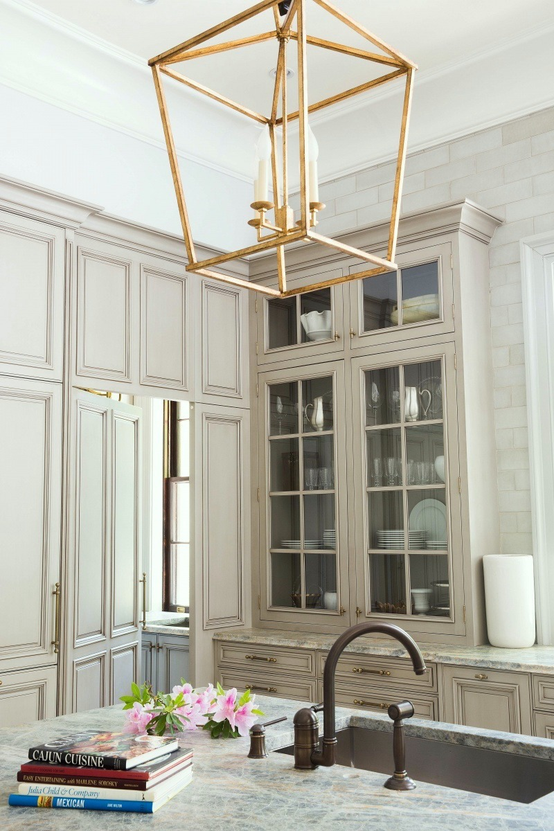 Kensington bliss large brass industrial pendants for the for Brass kitchen light fixtures
