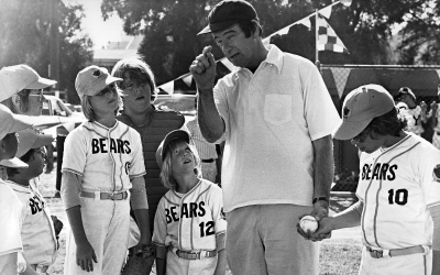 Buttermaker (Walter Matthau) enters the second act of THE BAD NEWS BEARS (1976) with a new strategy: Trying.