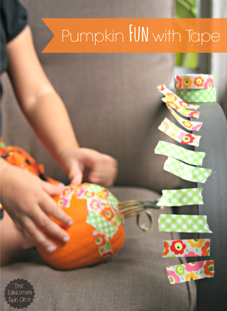 Pumpkin Fun with Washi Tape from The Educators' Spin On It