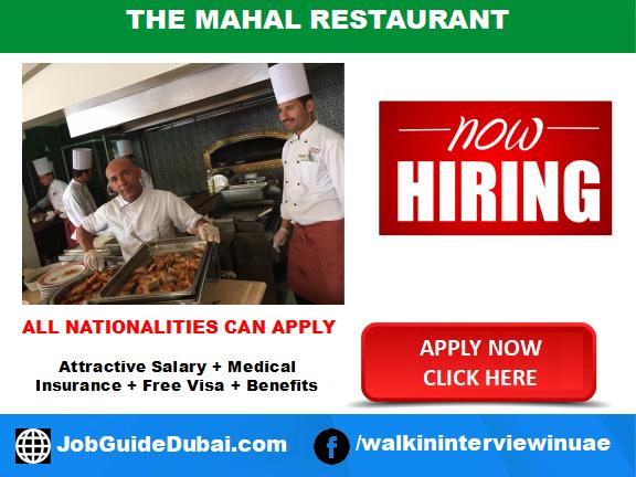 The Mahal Turkish cuisine restaurant in Dragon Mart is hiring for accountant jobs in Dubai UAE