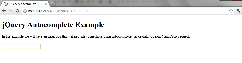 Programmers Sample Guide: jQuery autocomplete example using
