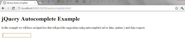 jQuery autocomplete Ajax JSON example using Java Servlet