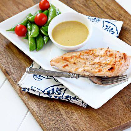 Grilled Chicken with Honey Mustard Dip