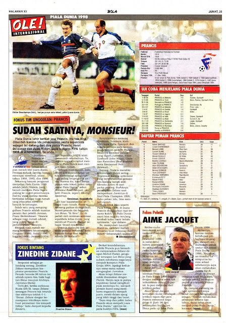 WORLD CUP 1998 TEAM PROFILE FRANCE MONSIEUR