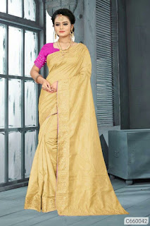 Zoya Silk Solid With Stone Work  Sarees
