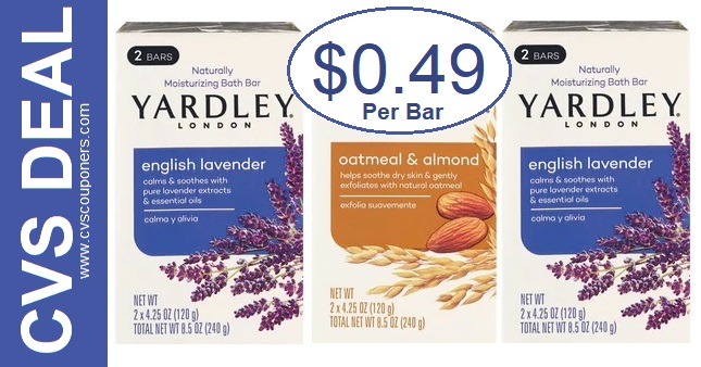 Yardley Bar Soap Deal at CVS $0.49 2-23-2-29