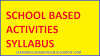 school based activity b.ed second year syllabi and curriculum