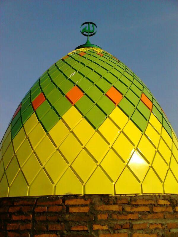 Kubah Masjid bahan Panel enamel Masjid di Kendal