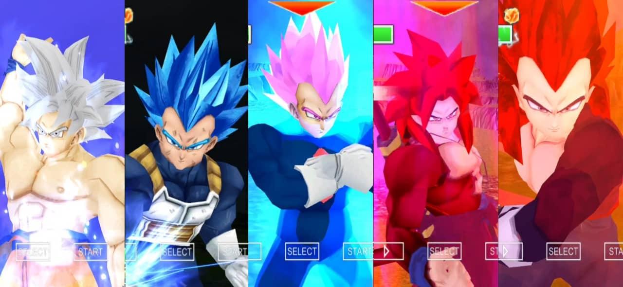 Dragon ball Super Goku and Vegeta all forms
