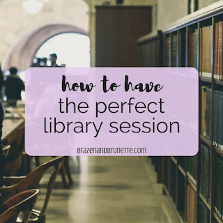 How to have the perfect library session. 5 things you need to bring to the library every time. 5 things you need before studying in the library. how to survive staying at the library all day. how to survive a library study session. library study session packing list. how to prepare for your next library session. how to study better at the library. how to utilize the library for studying. library tips and tricks. law school blog. law student blogger. | brazenandbrunette.com
