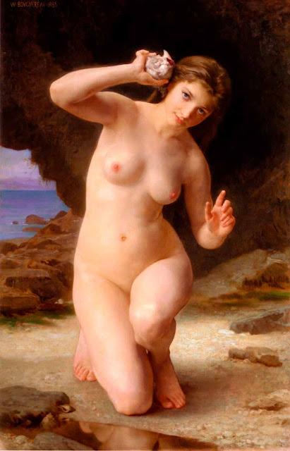 Адольф Вильям Бугро - Женщина с раковиной (1885)
