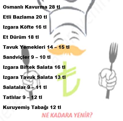 osmanlı cafe menü fiyatlar
