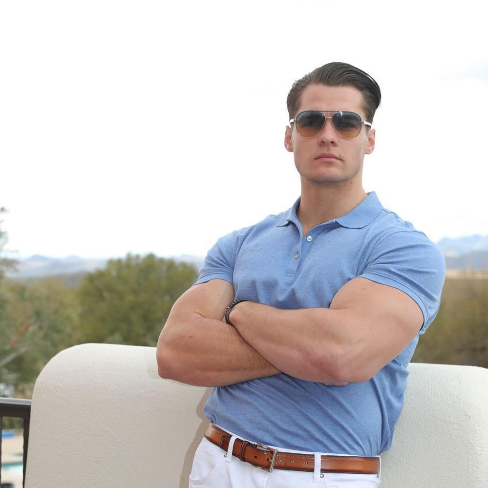 attractive-luxurious-stylish-gentleman-hunk-sunglasses-belt-polo-shirt-biceps-jock-bro