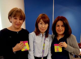 Clase con maestra japonesa, clase con Akiko.
