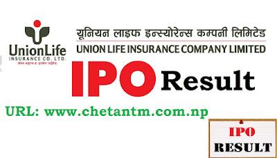 Check Union Life Insurance Company IPO Result