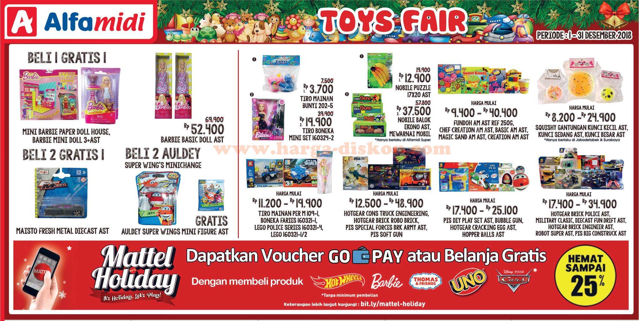 Promo Alfamidi Terbaru Toys Fair 1 31 Desember 2018 Harga Diskon