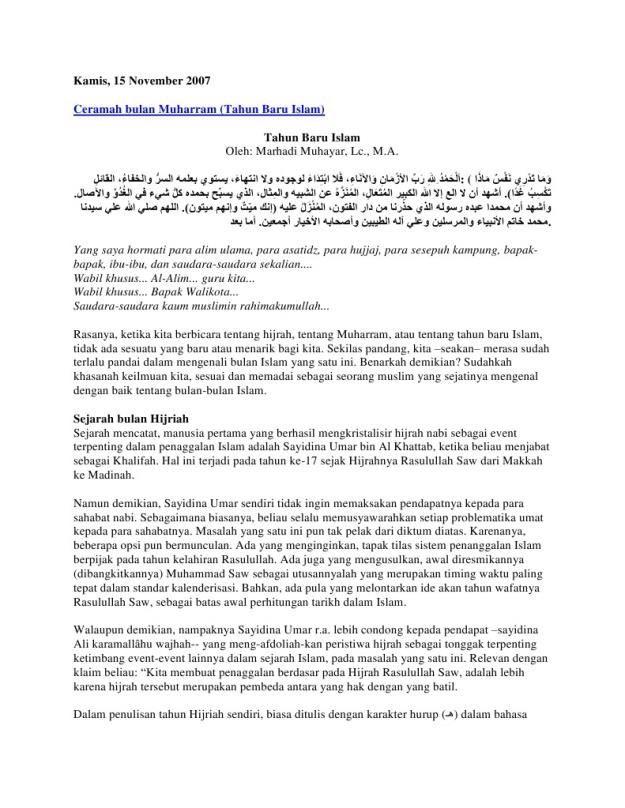 khutbah jumat menyambut tahun baru hijriah islam