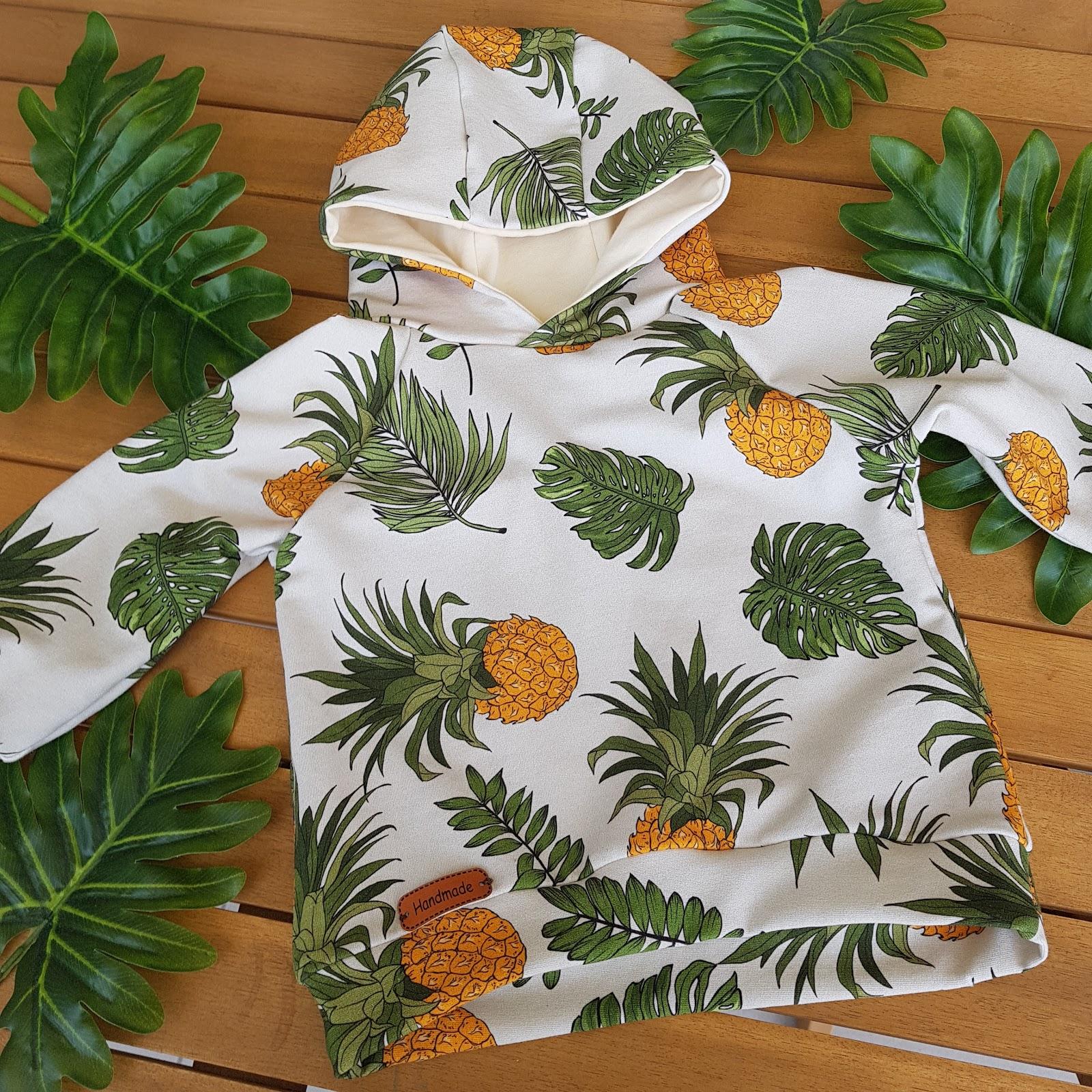 Ananasowy zawrót głowy. Bluza niemowlęca w ananasy