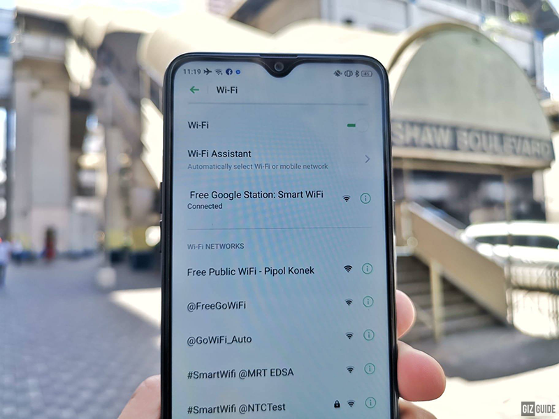 Simply find Free Google Station: Smart WiFi on your smartphone's WiFi connection list!
