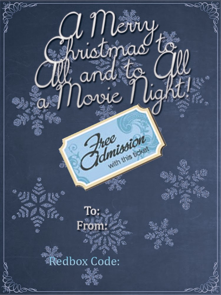 movie gift card printable